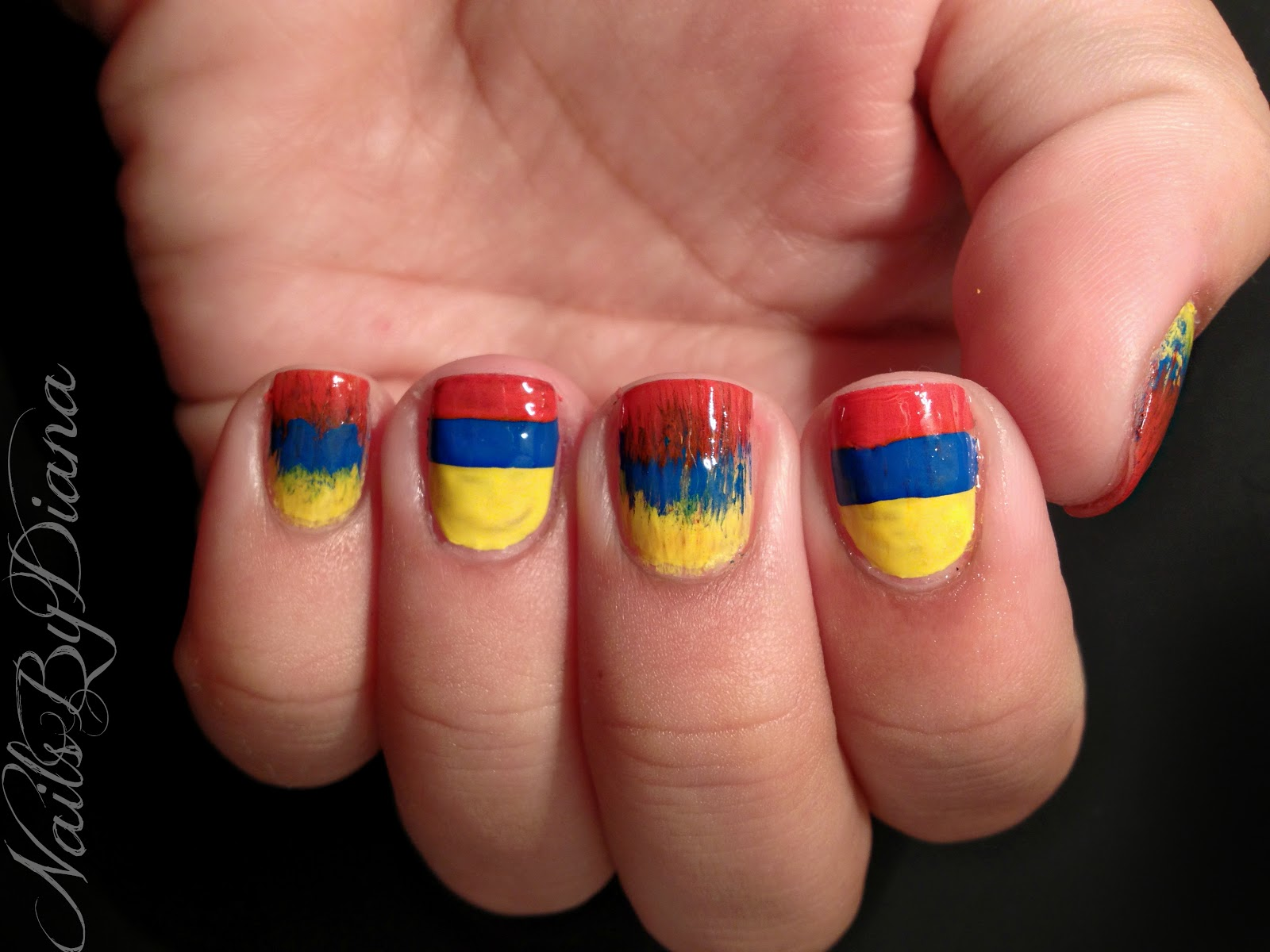 Nailsbydiana 31 Day Challengeday 28 Inspired By A Flag