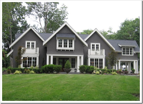 Tag exterior through the front door - White house exterior paint color model ...