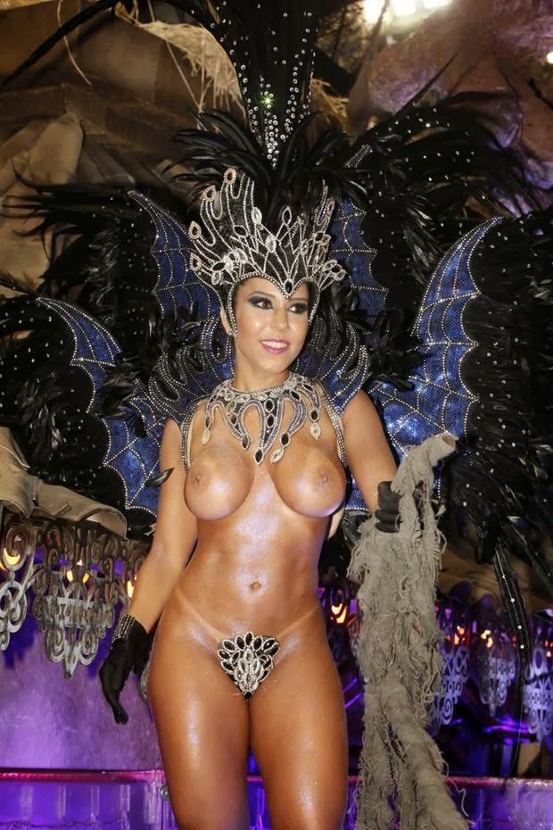 Renata Frisson A Mulher Mel O Desfila Nua Fantasia De Aranha