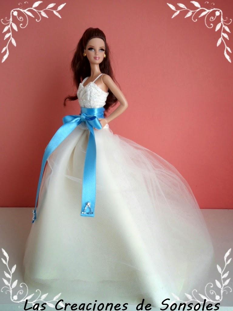 Las creaciones de Sonsoles: Barbie y Nancy con el modelo novia de ...