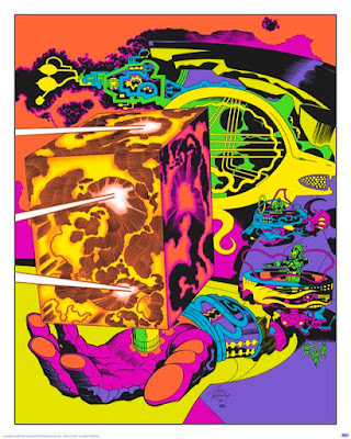 "San Diego Comic-Con 2015 Exclusive Jack Kirby ""Lord of Light"" Blacklight Prints by Heavy Metal - Planetary Control Room (right)"