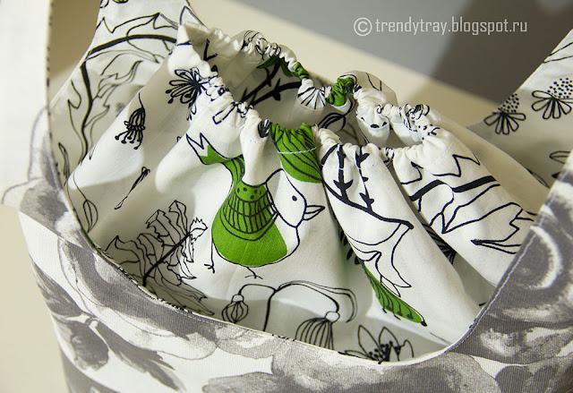 Текстильная сумка с розами