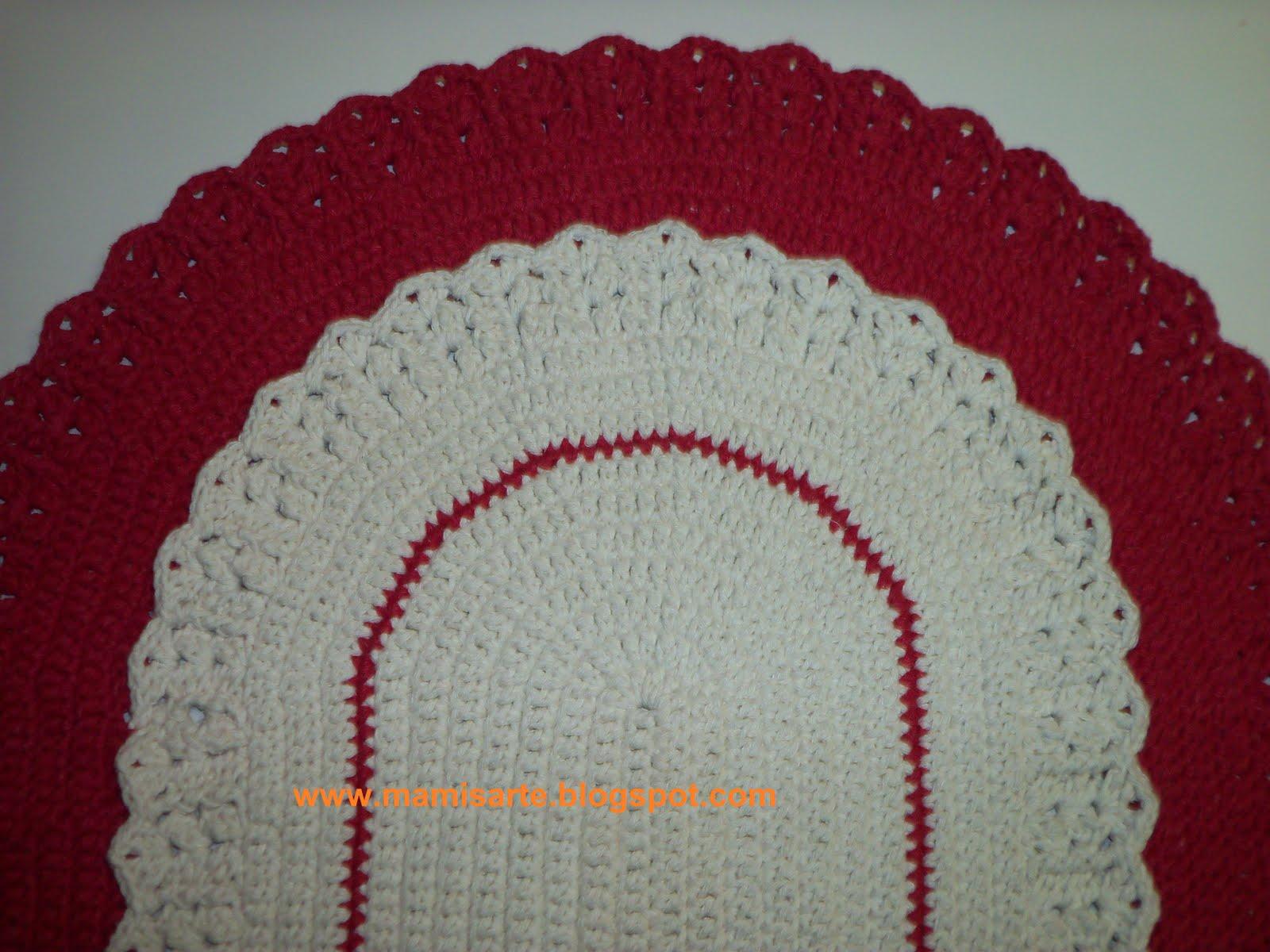 crochet et tricot da mamis tapete oval em crochet