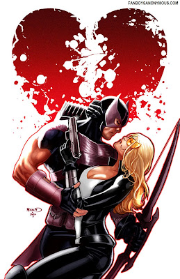 Marvel Avengers Hawkeye Mockingbird love scene