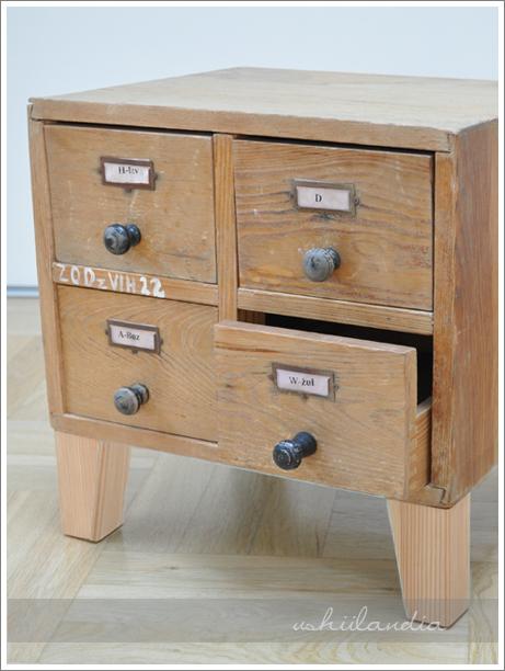 stare szufladki biblioteczne, aptekarskie / vintage library drawers