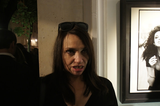 Vernissage de Richard Aujard, Beatrice Dalle
