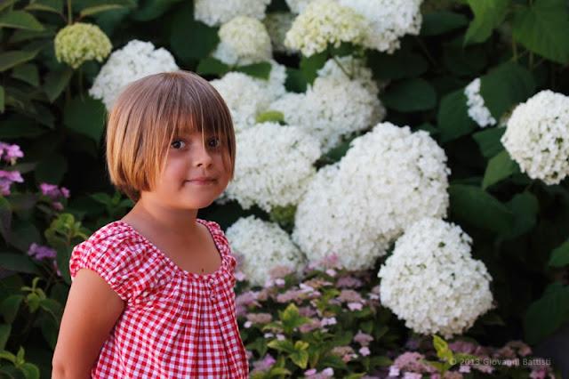 Ritratto di una bambina tra i fiori