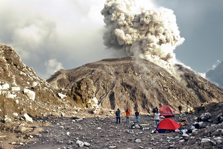Volcano Uptick...Santiaguito volcano Guatemala has a powerfull eruption only five day's after a...