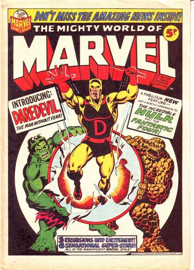Mighty World of Marvel #20, Jim Starlin cover