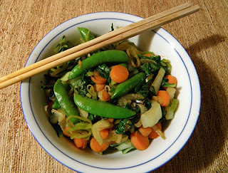 Bowl of stir fry without seeds