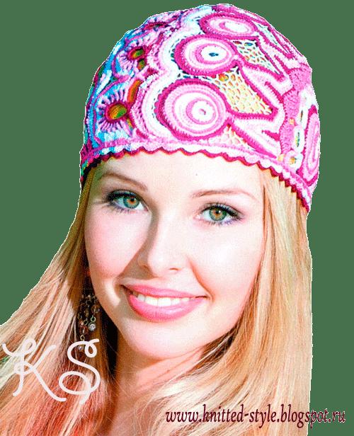 летняя шапочка в винтажном стиле