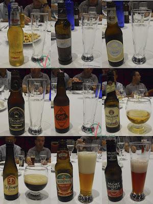 Las 9 cervezas catadas.