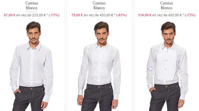 camisas color blanco