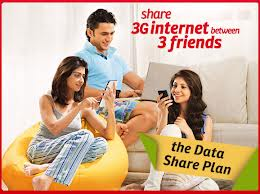 the data share plan, share 3G internet between 3 friends