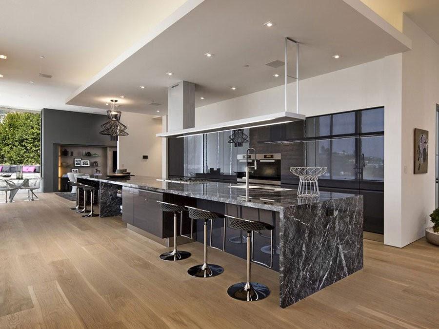 Ideas de islas para cocinas modernas para cocinas de gran for Cocinas super modernas