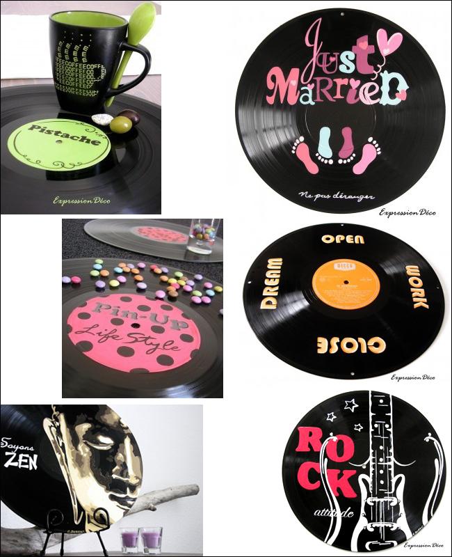 La r cup 39 du vinyle quand les cr ateurs d tournent la galette - Deco avec disque vinyl ...