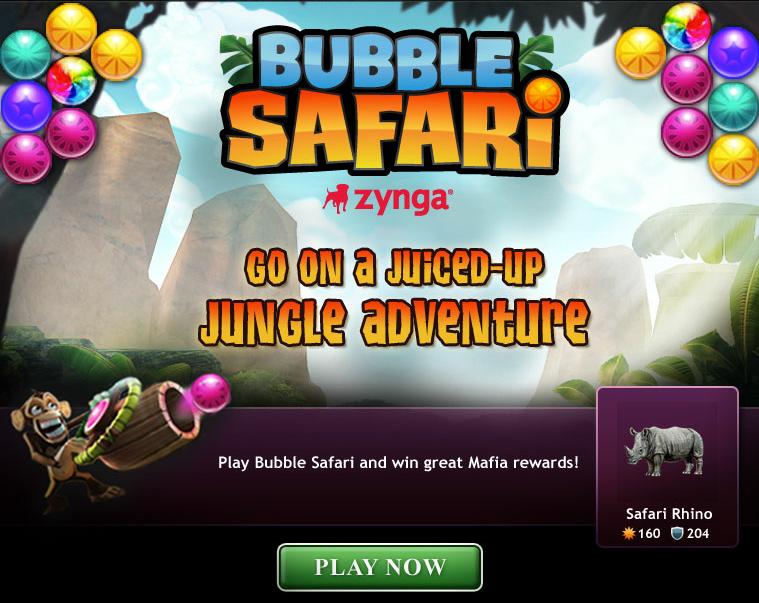 Zynga poker bubble safari