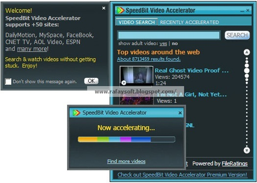 Free Download SpeedBit Video Accelerator Premium 3.3.7.5 Build 3056 with Crack Full Version