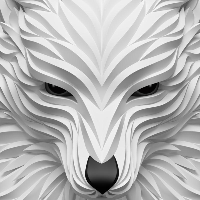 11-White-Wolf-Maxim-Shkret-Digital-Origami-Animal-Art-www-designstack-co