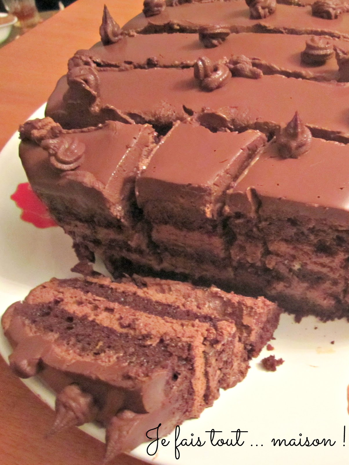 Gateau au chocolat anniversaire felder