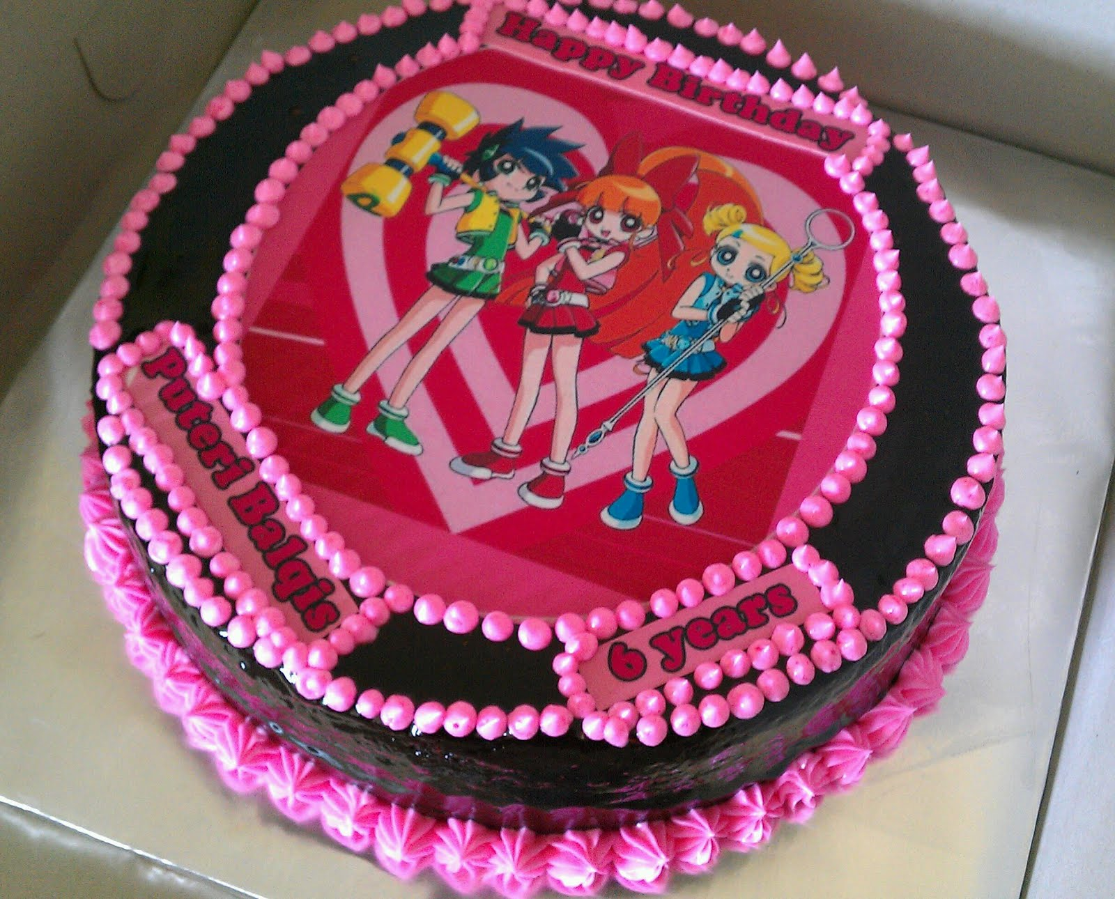 Images Of Cake With Name Zainab : Zairie Homemade Delights: Power puff Cake