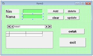 Penggunaan CRUD pada Visual Basic 6.0