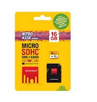 Buy Strontium 16GB (Class10) 433X Nitro Micro SD Rs.259