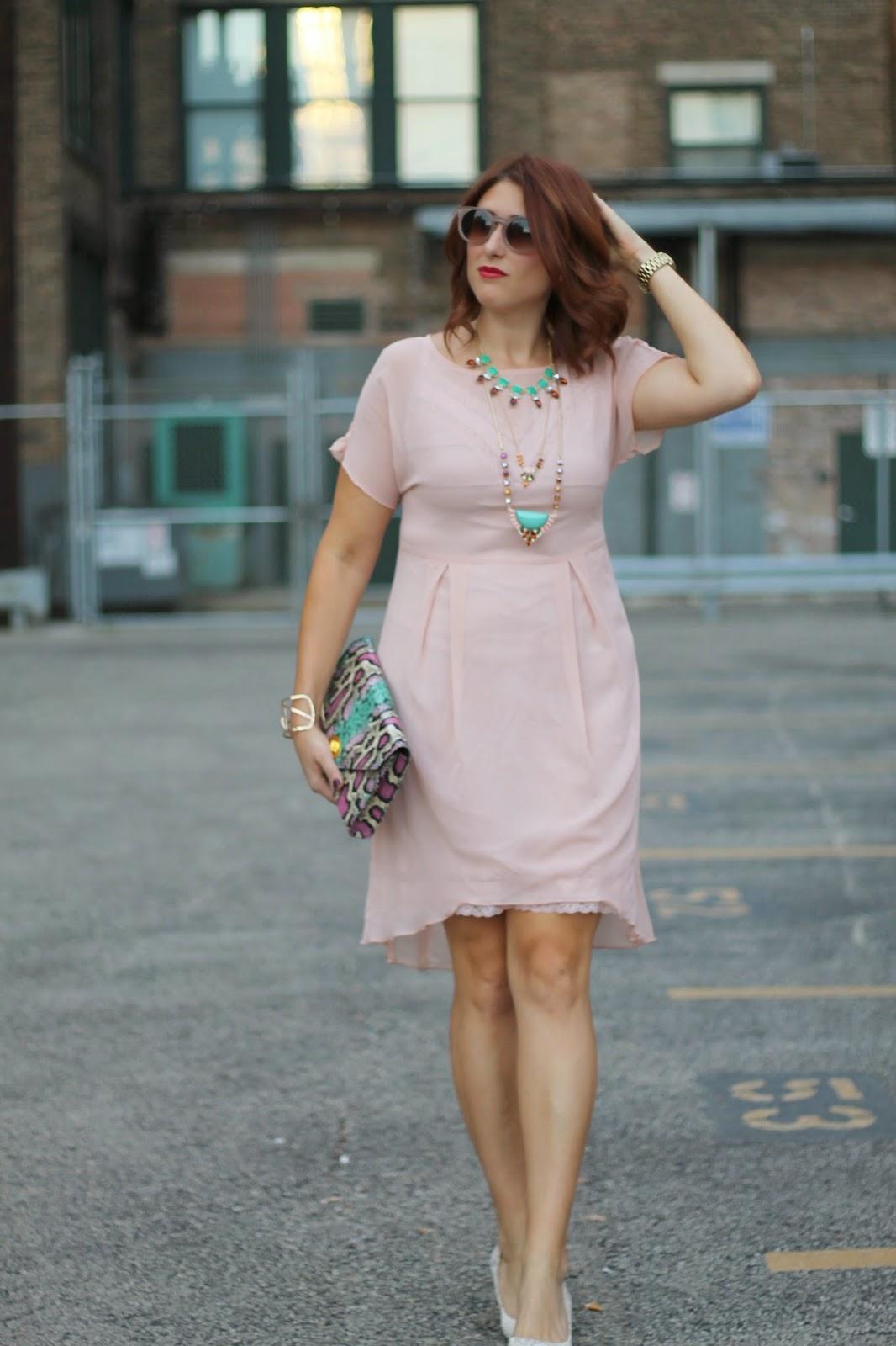 zara, dress, pink