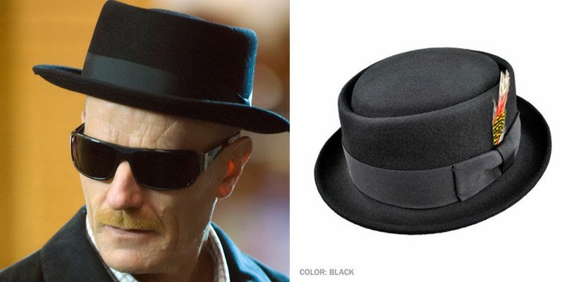 Bryan Cranston s character Walter White wears a pork pie hat in the AMC  series Breaking Bad when he appears as his alter ego