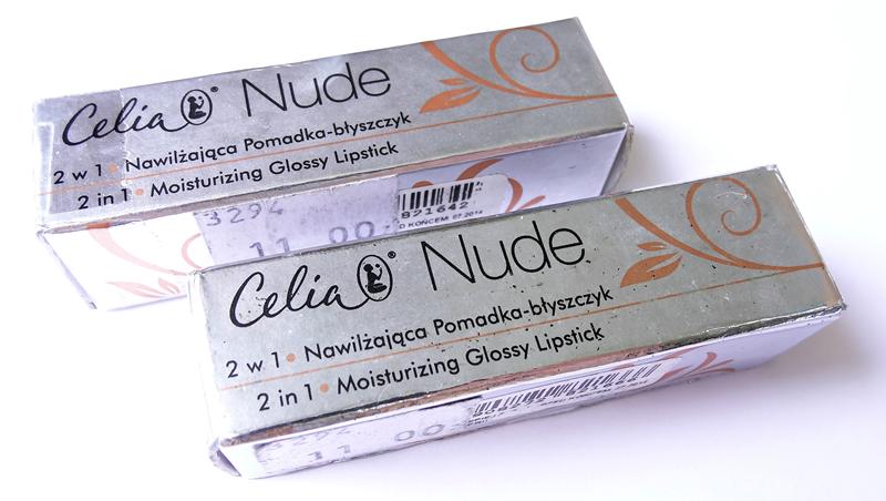 Celia Nude 2w1 Nawilżająca Pomadka-błyszczyk 604 i 606