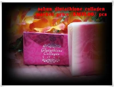 glutathione collagen soap- pinkish