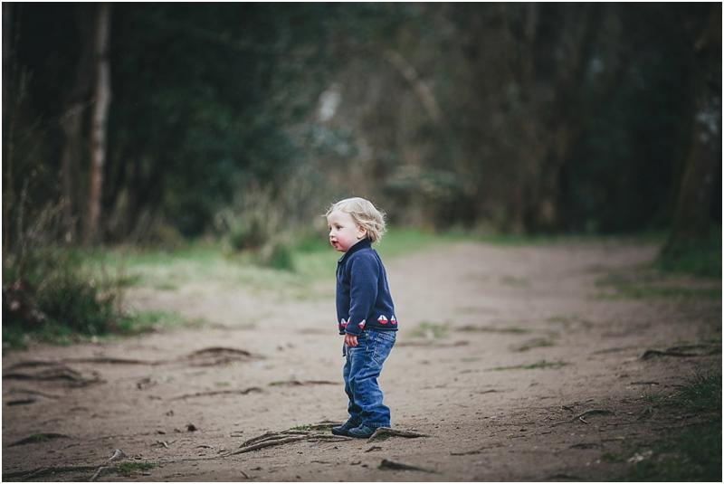 Toddler boy at Fingle Bridge
