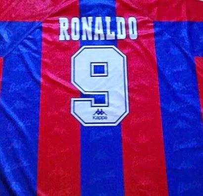 camiseta de Ronaldo del Barcelona