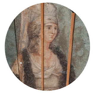 Detail of a wealthy woman from Flora MacDonald's fan