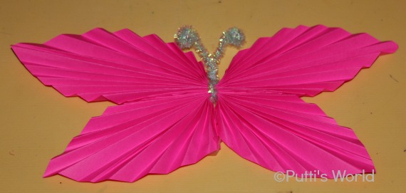 origami Folded Paper Butterflies kids party