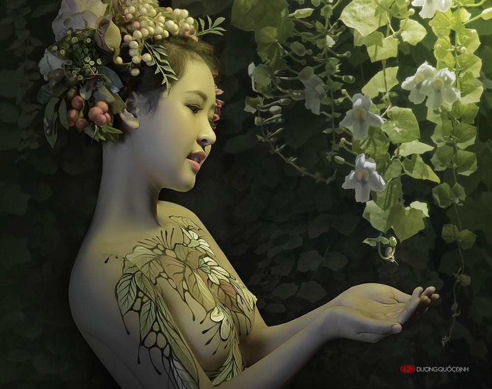 Ảnh gái đẹp sexy với body painting Phần 1 25