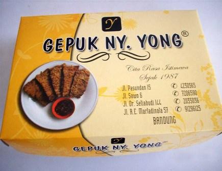 Wisata Kuliner Bandung gepuk ny. yong