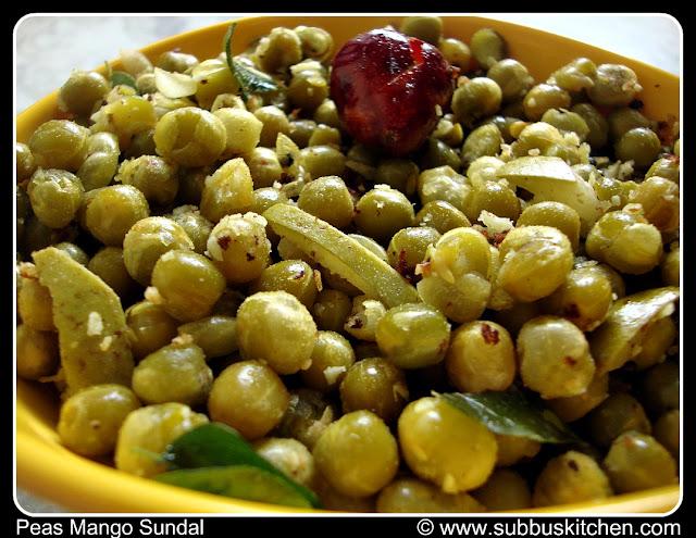 Navrathri Sundal Recipes | Peas Mango Sundal (Pattani Sundal)