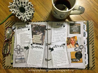 One Little Word January Page by Lynn Shokoples