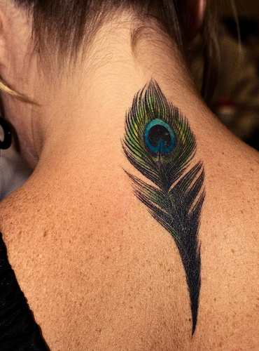 feather tattoos for girls