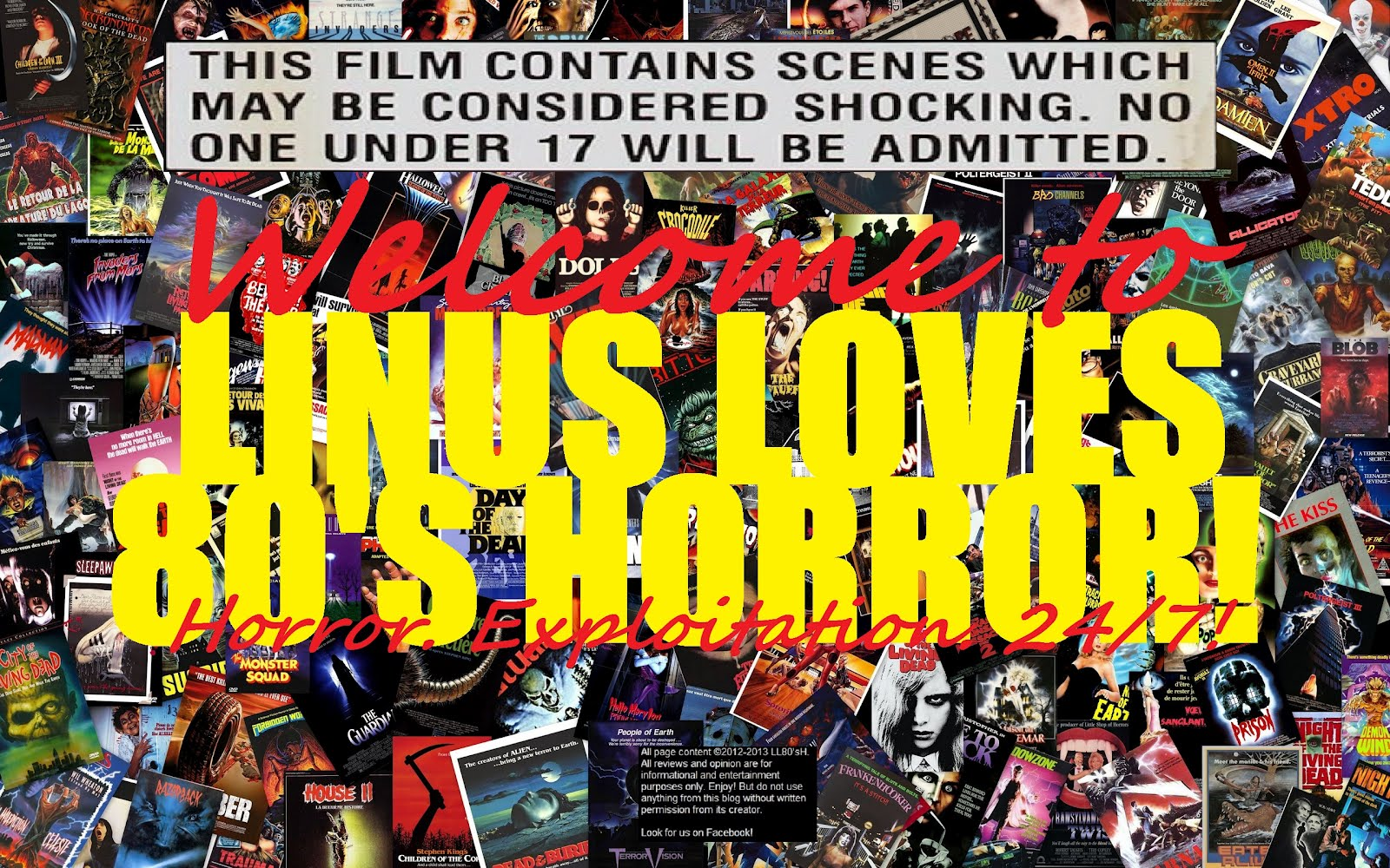 Linus Loves 80's Horror! - A Tribute Blog