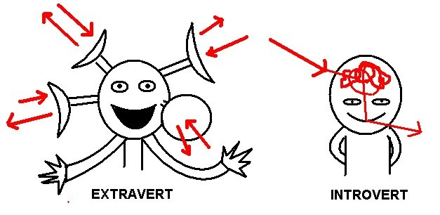 extrovert personality The first pair of psychological preferences is extraversion and introversion where do you put your attention and get your energy do you like to spend time in the outer world of people and things (extraversion), or in your inner world of ideas and images (introversion).