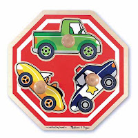 Melissa and Doug Stop Sign Jumbo Knob Puzzle
