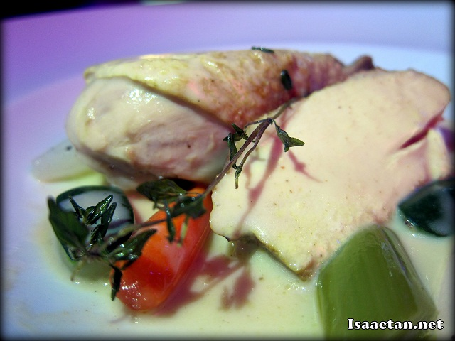 Experience #3: Poultry, roasted with Casserole vegetables, ivory sauce with VSOP Cognac