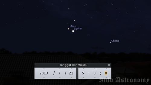 Lihat Jupiter dan Mars Berdekatan Setelah Sahur