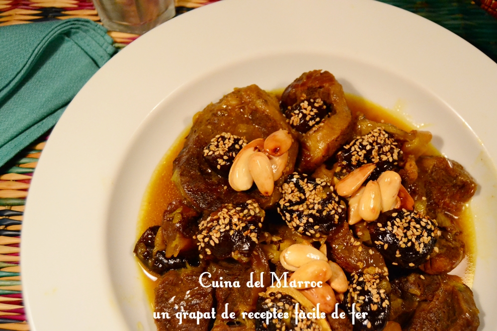 Receptes de cuina del marroc tagin de vedella amb prunes - Vedella amb bolets olla express ...