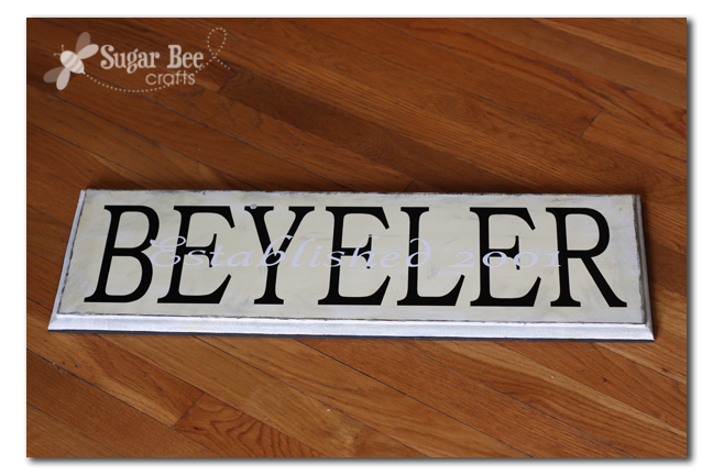 Family Name Sign Sugar Bee Crafts