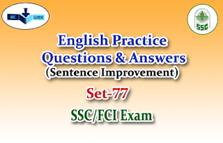 Practice English Questions (Sentence Improvement)