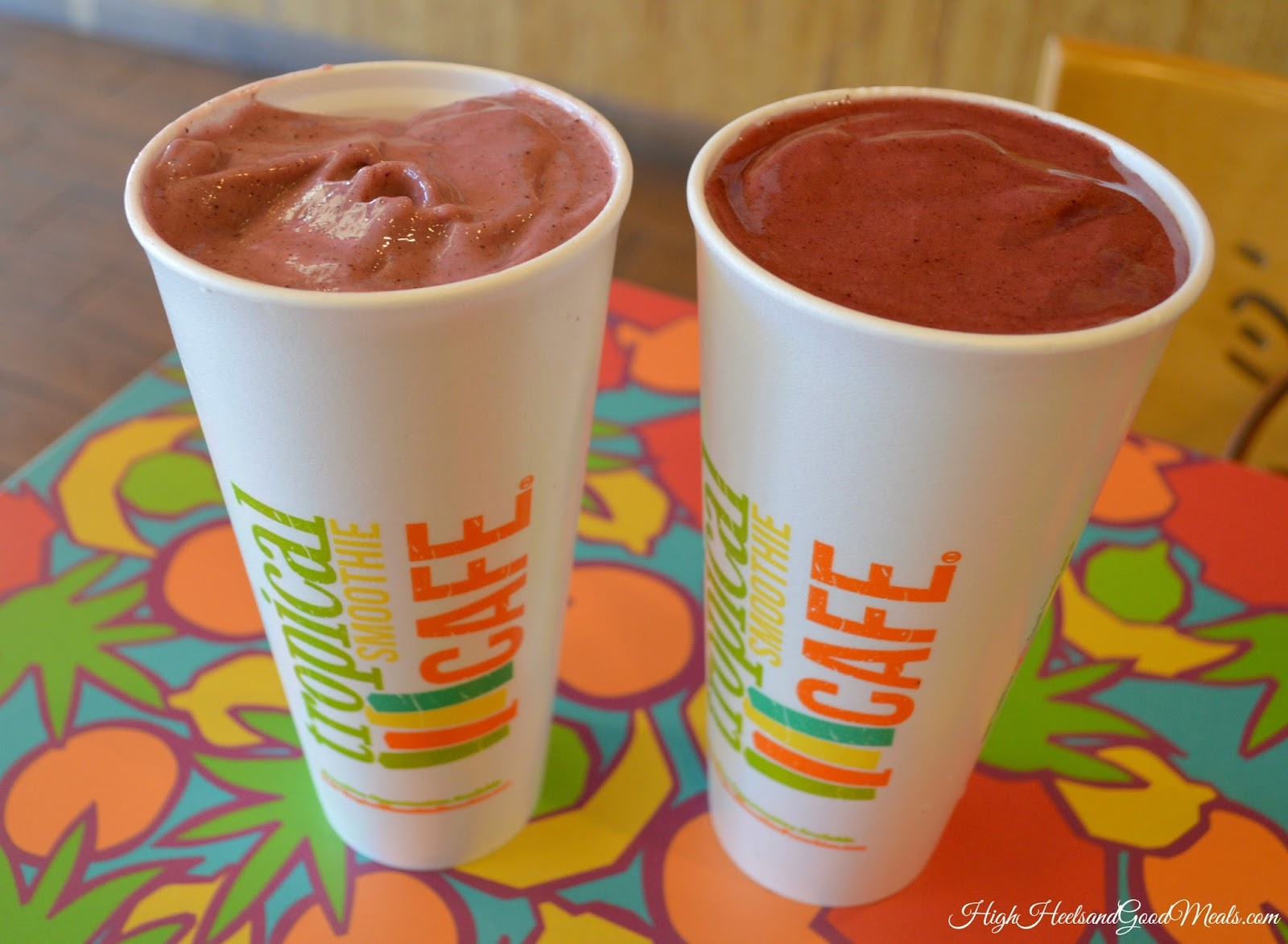 the blueberry pom truffle smoothie was sinfully devine it is made with ghirardelli white chocolate i mean come on they had me at ghirardelli - Tropical Cafe 2015