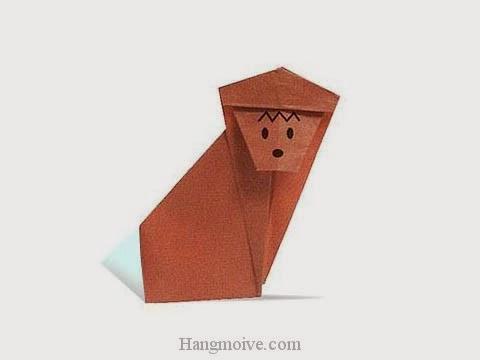 Cách gấp, xếp con khỉ bằng giấy origami - Video hướng dẫn xếp hình - How to make a Monkey